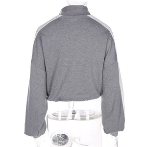 adjustable cropped pullover - AfterAmour