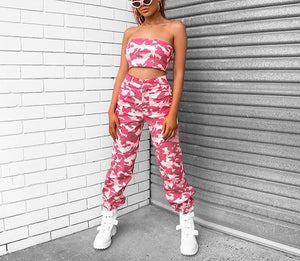 2-piece pink camo set - AfterAmour