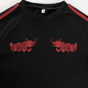 twin dragons crop top - AfterAmour