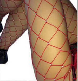 Hot Diamond Fishnet Net Tights - AfterAmour