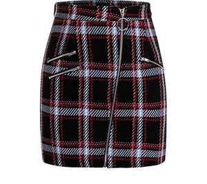 plaid mini skirt - AfterAmour
