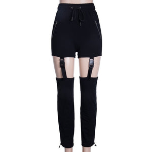 buckle strapped active trousers - AfterAmour
