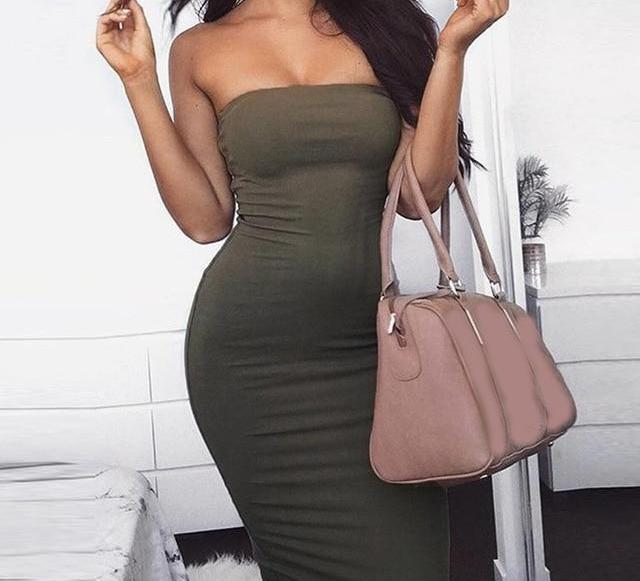 Strapless Sexy Dress - AfterAmour