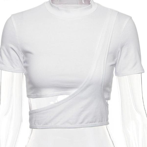 Asymmetrical Geo Tech Crop Top - AfterAmour