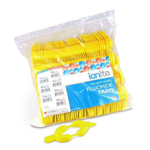Ionite - Yellow Dual Arch Tray Small 100 pack