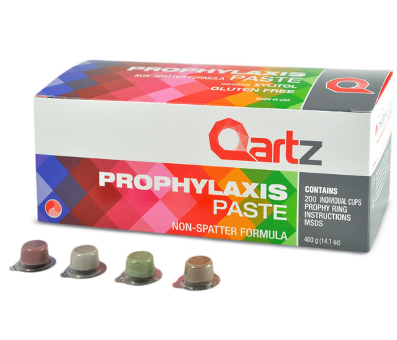 Qartz Prophy Cups Fluoride Free and Dye Free