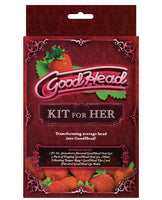 Name Your Price | Goodhead Kit For Her - Strawberry | Sexual Enhancers |Doc Johnson | Only at evalaide.com