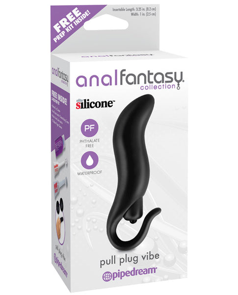 Name Your Price | Anal Fantasy Collection Pull Plug Vibe - Black | Anal Toys |Pipedream Products | Only at evalaide.com