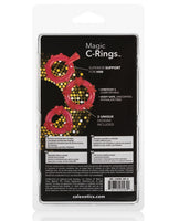 Magic C Rings - Red, Penis Enhancement, California Exotic Novelties - Only at Evalaide.com