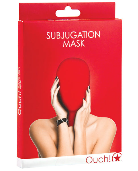 Shots Ouch Subjugation Mask - Red, Bondage Gear, Shots America LLC - Only at Evalaide.com