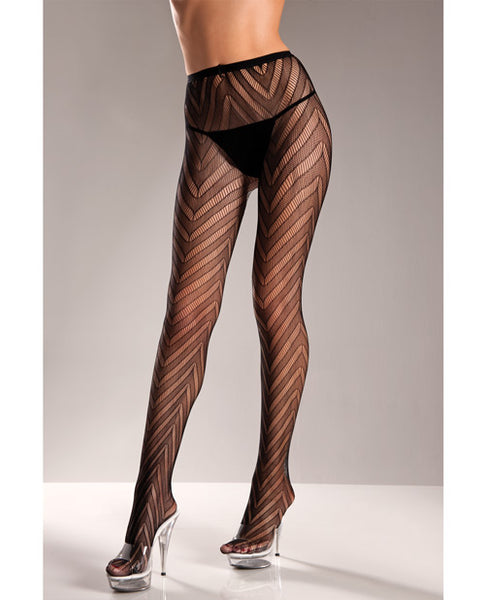 Name Your Price | Designed Chevron Pattern Lycra Lace Pantyhose Black O-s | Clothing And Lingerie |Be Wicked INC | Only at evalaide.com