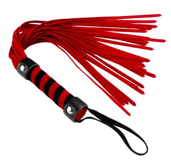Name Your Price | Short Suede Flogger - Red | Impact |Frisky | Only at evalaide.com