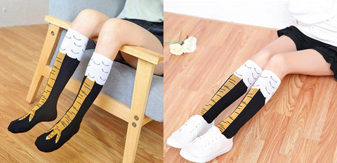 Chicken Leg Socks - Funny Chicken Claw Thigh-high Socks
