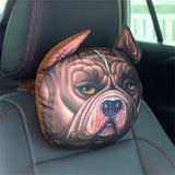 Cat and Dog Head Car Seat Pillows - Cute Animal Head Pillows