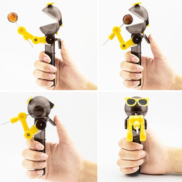 Robot Lollipop Holder Keeps Your Suckers Safe and Clean