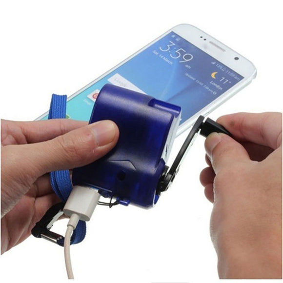 USB Hand Crank Emergency Phone Charger Manual - Crank Gadget Charger For Camping and Emergencies