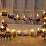 LED Photo Clip String Lights - Illuminates picture string lights
