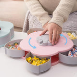 Flower Petal Snack Holder - Automatic Opening Snack Drawers Holds 10 Different Snacks and Candies
