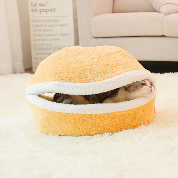 Hamburger Cat or Dog Bed