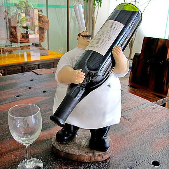 Funny Fat Chef Wine Bottle Holder