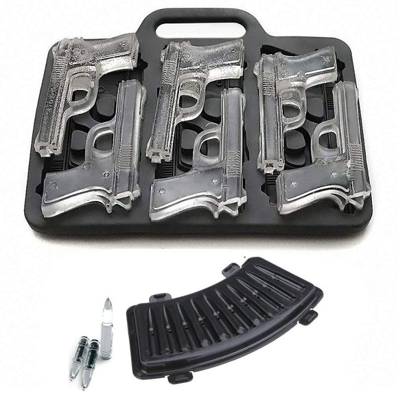 Gun and Bullet Shaped Ice Cube Tray Molds