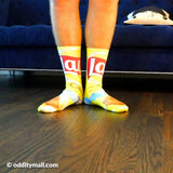 Funny Bag of Chips Socks - Quirky Snack Tube Socks