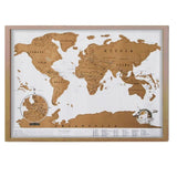 Travel World Scratch Map - Scratch Off To Show The Countries You've Traveled To