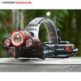 HS-3X | 3 LED 10,000 Lumen Tactical Headlamp