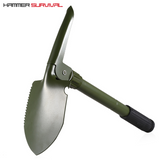 Folding Tactical Shovel With Compass