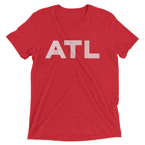 ATL - red unisex Atlanta t-shirt design for men and women