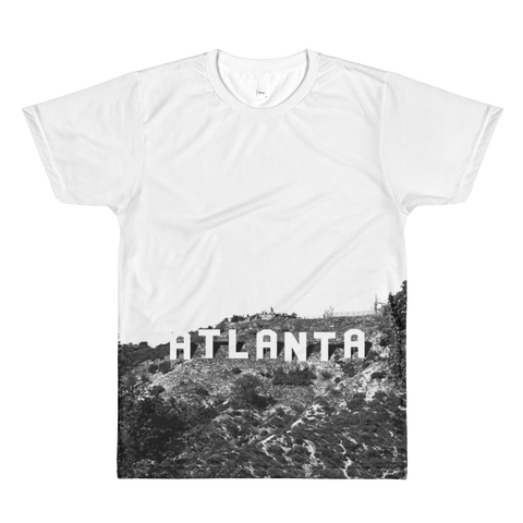 ATL Hills - black and white unisex Atlanta Hollywood t-shirt design for men and women