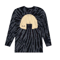 Big Wig Black Tie Dye Long Sleeve
