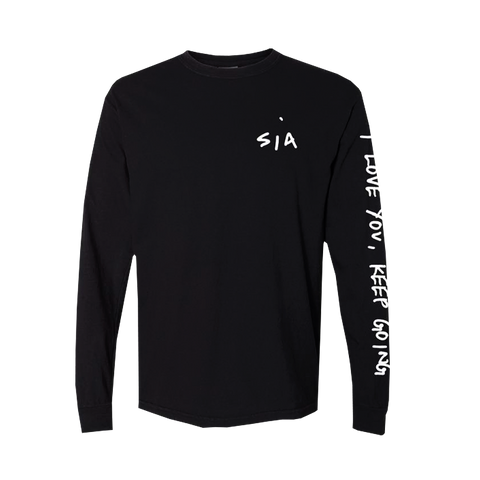 I Love You Black Long Sleeve