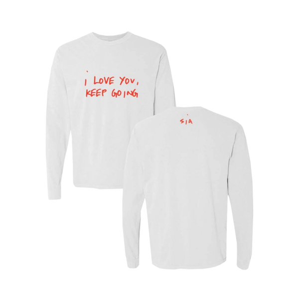 I Love You White Long Sleeve