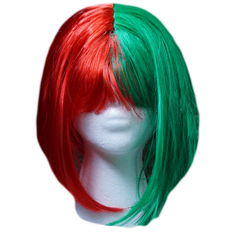 Red and Green Bob Wig