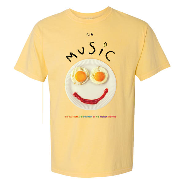 'Music' Yellow Tee