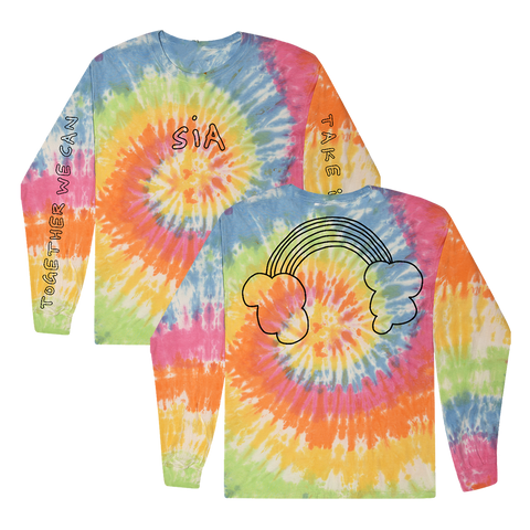 Rainbow Headphone Tie Dye Long Sleeve