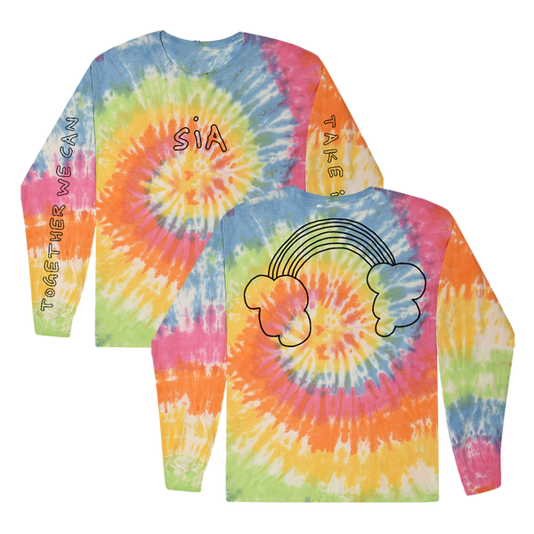 Rainbow Headphone Tie Dye Long Sleeve + Digital Album
