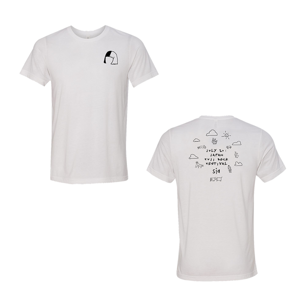 White Doodle Tee | Sia Official Store