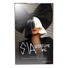 Official SIA Wig With Bow