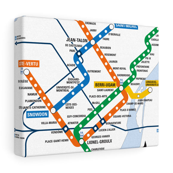Metro Montreal Canvas Art