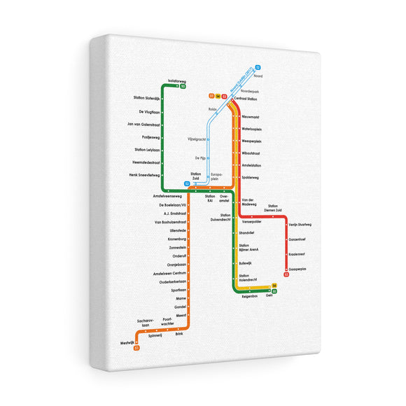 Metro Amsterdam Canvas Art