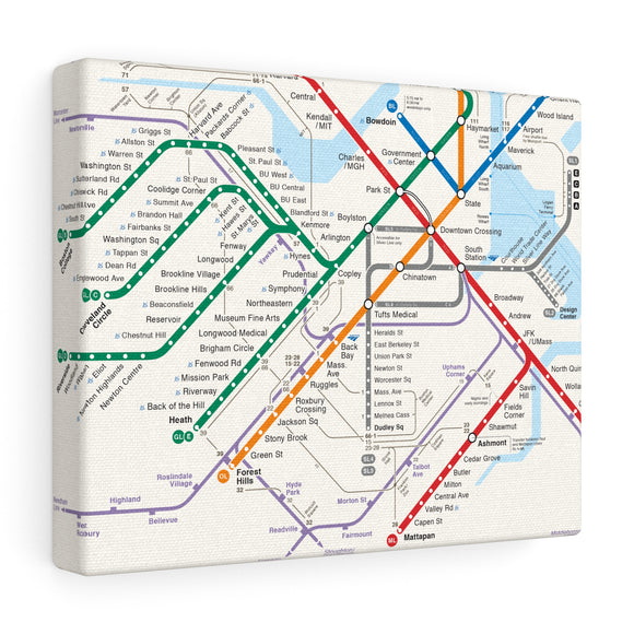 Metro Boston Canvas Art