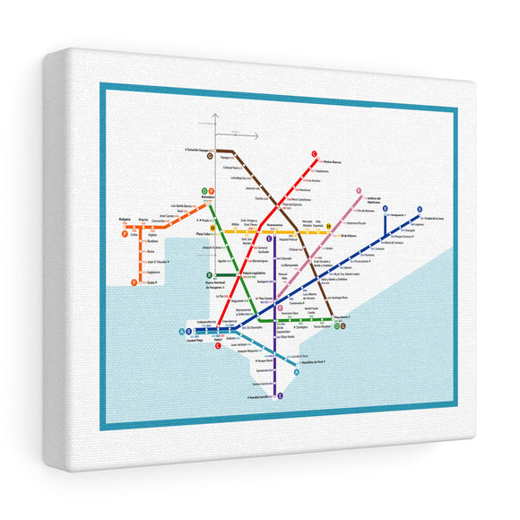 Metro Montevideo Canvas Art
