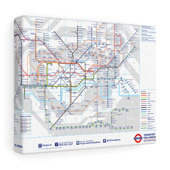 Metro London Tube Canvas Art