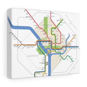 Metro Washington DC Canvas Art