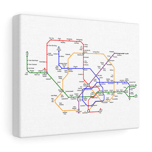 Metro Singapore Canvas Art