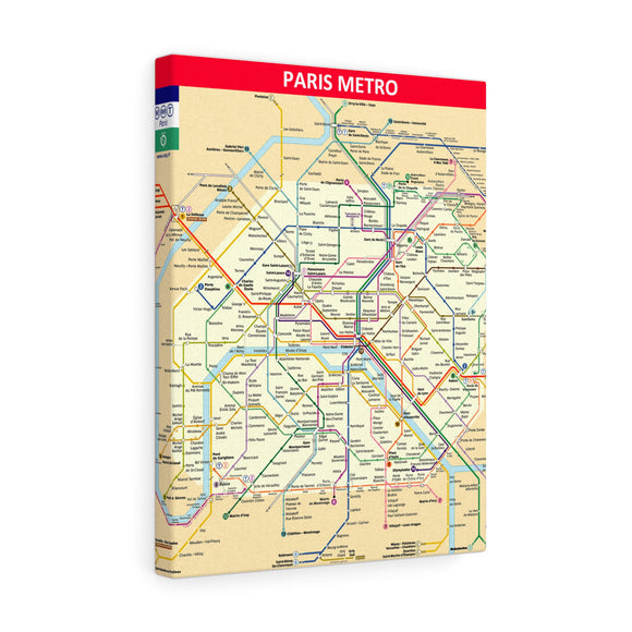 Metro Paris Canvas Art