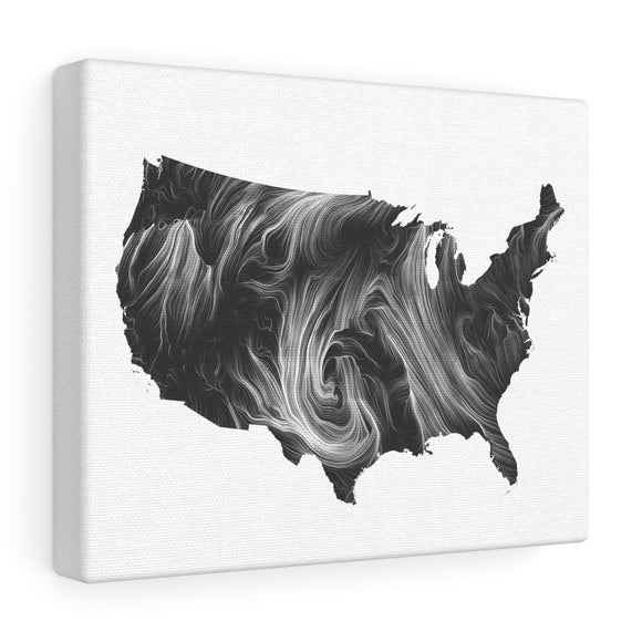 USA Wind Canvas Art