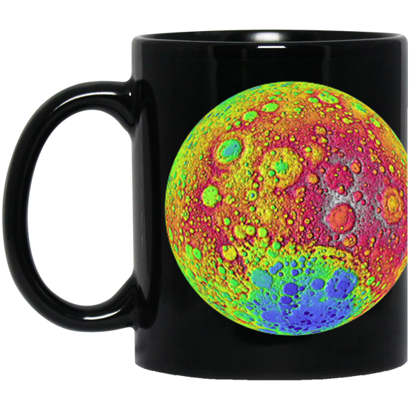 Moon Color Topography Mug